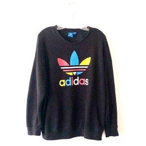 ADDIDAS • oversized trefoil logo sweatshirt • sz L